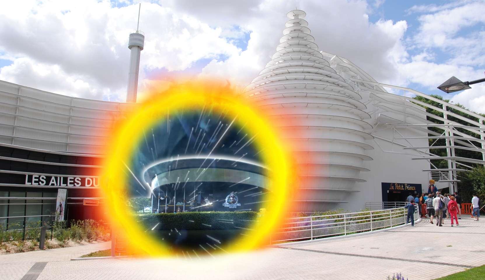 Portails de téléportation dans les allées du Futuroscope 0210