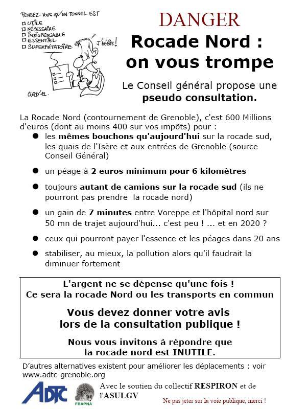 """La rocade nord : un projet """"pour mieux se déplacer"""" Tract10"""