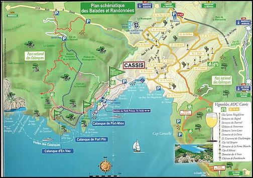 Calanques Port-Miou / Port-Pin / En-Vau Carte_10