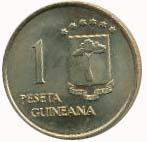 UNA PESETA - extranjera Guinea11
