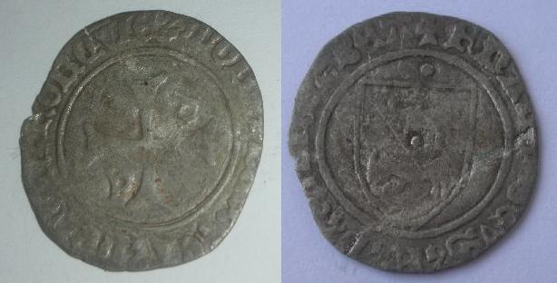 blanc de Francois-Phébus (1479-1483) pour le Béarn. Moneda10