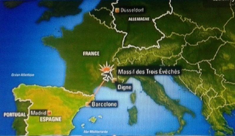 Crash d'un A320 avec 148 personnes à bord près de Digne-les-Bains  France10