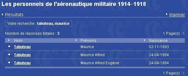 Recherche sur Maurice Tabuteau Sga10