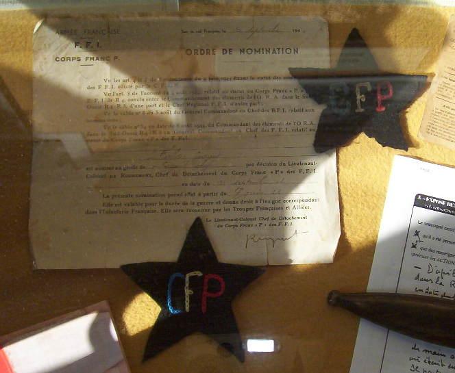 musée du CFP Corps Franc Pommiès 49ème RI Cfp1310