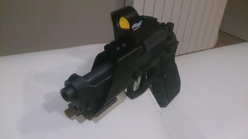 beretta 92 fs sniper grey avec red dot walther  Dsc_0438