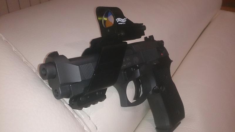beretta 92 fs sniper grey avec red dot walther  Dsc_0439