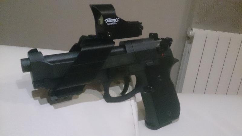 beretta 92 fs sniper grey avec red dot walther  Dsc_0441
