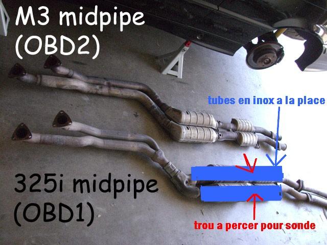 [BMW 328 i E36] Montage de ligne intermédiaire de 325 i E36 Midpip10
