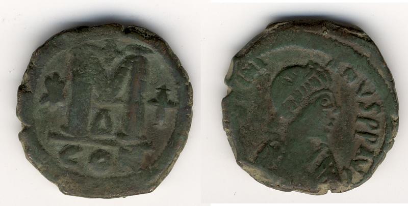 40 Nummi de Justiniano I  Bizant10