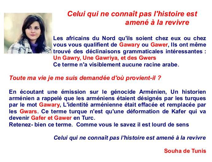 Souha de Tunis ne pratique pas la taqiya : c'est vraiment pour la Liberté qu'elle se bat Gwer10