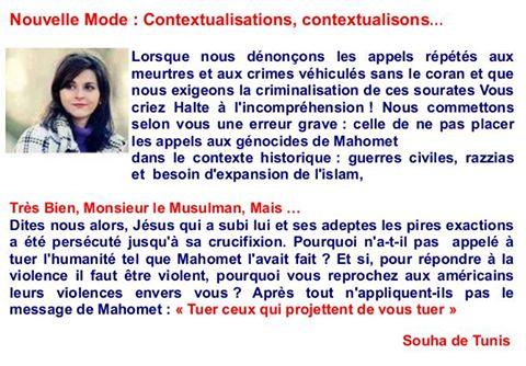 Souha de Tunis ne pratique pas la taqiya : c'est vraiment pour la Liberté qu'elle se bat Souhat12