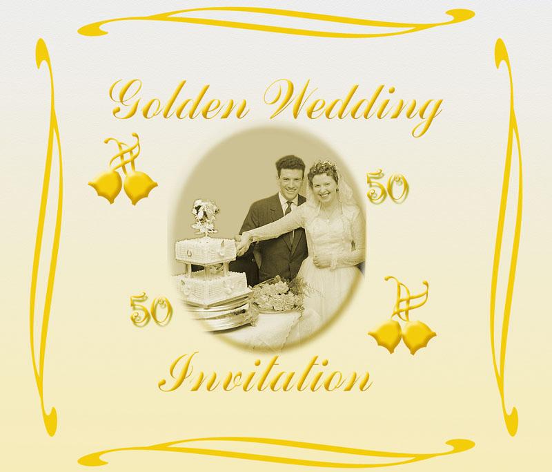 golden wedding invites Golden10