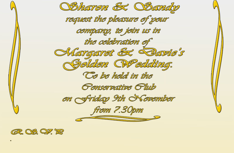 golden wedding invites Golden11