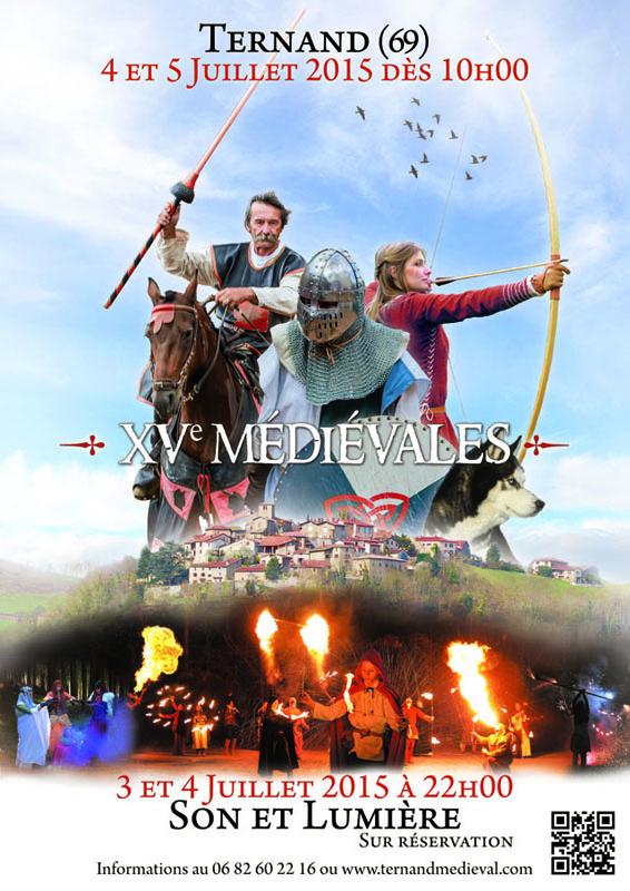 Fête médiévale de Ternand (69) – 4 & 5 juillet 2015 Affich12