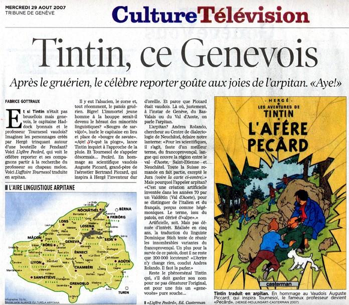 Tintin, ce Genevois [Tribune de Genève] Tintin11