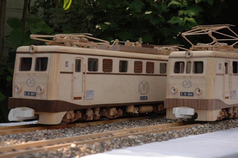 Wooden model train scale 1:25 Heijma10