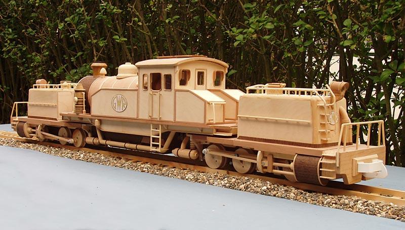 Wooden model train scale 1:25 Heijma11