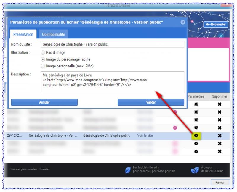 Comment mettre un compteur de visites sur votre site Heredis Online ? 149