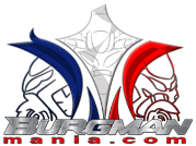 Vend support top case burgman 400 Logo-b10