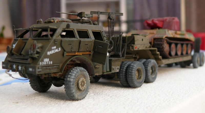Diorama pour un Pacific M26 Dragon Wagon - Academy - 1/72 Avant10