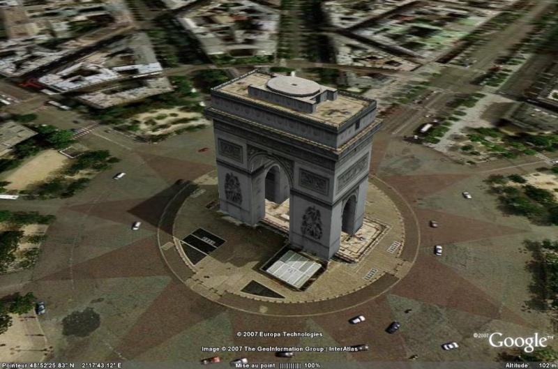 Bâtiments 3D avec textures - PARIS et Région parisienne [Sketchup] - Page 2 Arc_de10