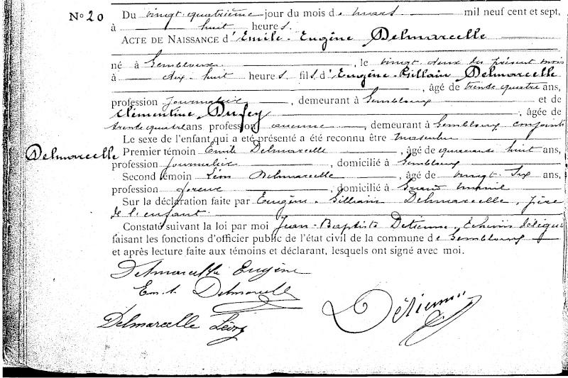 Famille DELMARCELLE - DUFEY Sf00b710