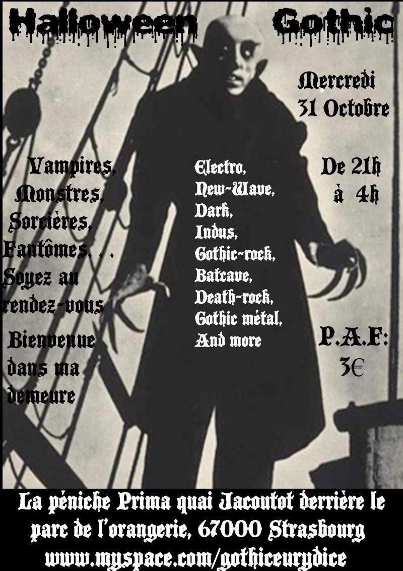 soirée Halloween Gothic 31 Octobre quai jacoutot Affich12
