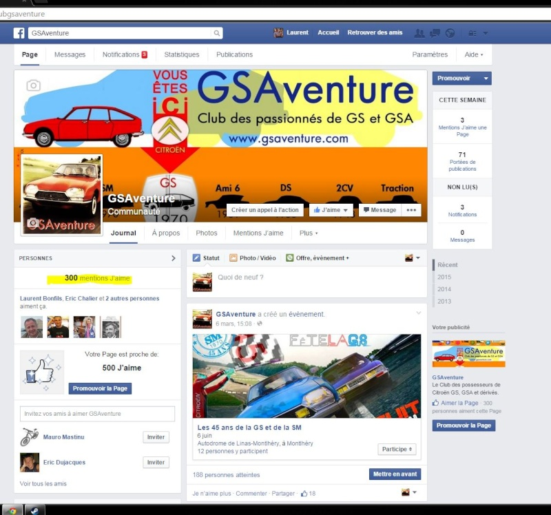 GSAventure sur Facebook 30010