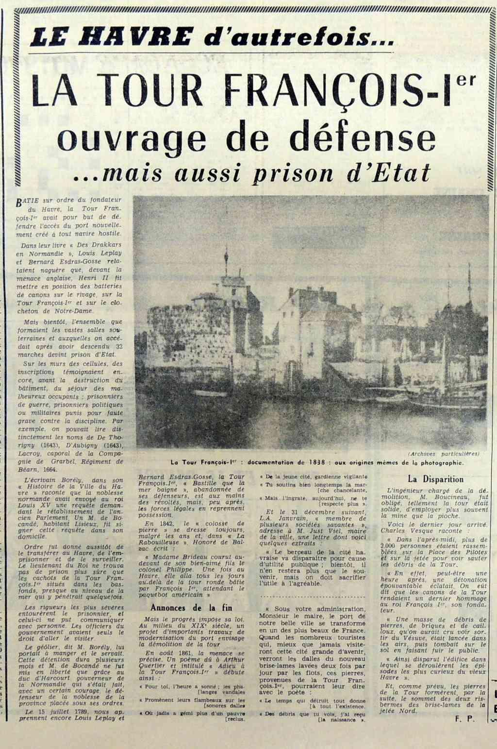 Abbé - La Tour François 1er au Havre : Défense et prison 1968-010