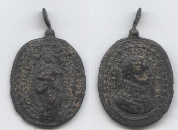 Beato Luis Gonzaga / Ntra.Sra. del Buen Consejo - s. XVII Cara10