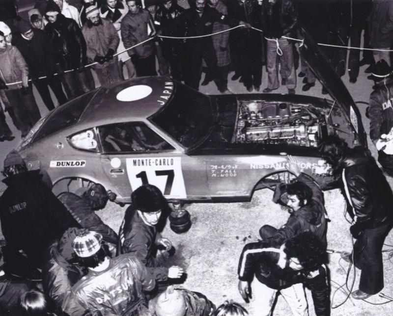 Monte Carlo 1973 repportage au coeur de l'assistance DATSUN 1972mt10