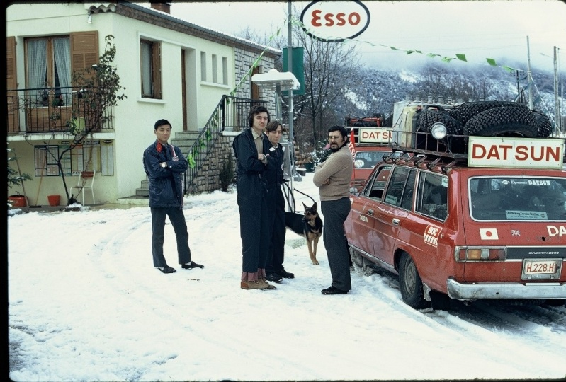 Monte Carlo 1973 repportage au coeur de l'assistance DATSUN Tn_110
