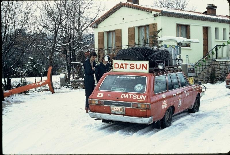 Monte Carlo 1973 repportage au coeur de l'assistance DATSUN Tn_1310