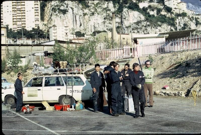 Monte Carlo 1973 repportage au coeur de l'assistance DATSUN Tn_1410