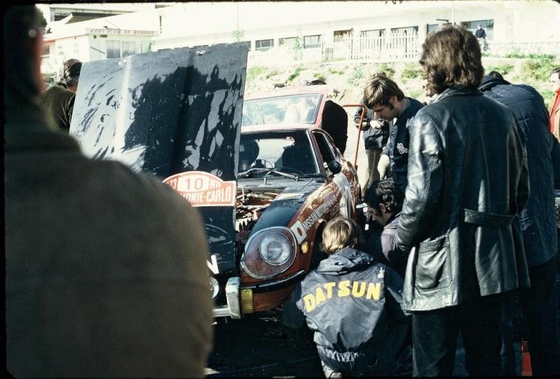 Monte Carlo 1973 repportage au coeur de l'assistance DATSUN Tn_710