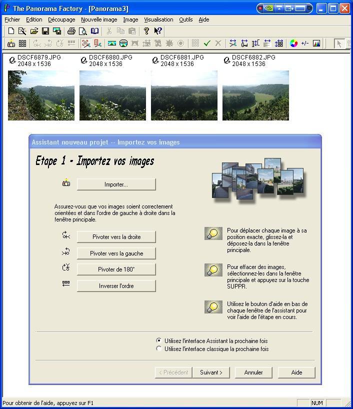 Créer un panorama avec Panorama Factory Etape110