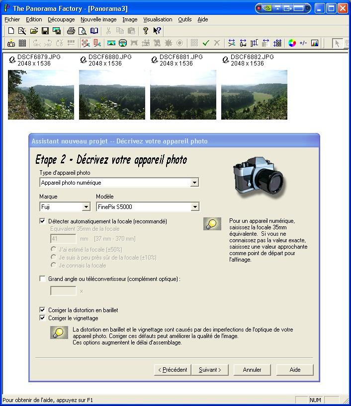 Créer un panorama avec Panorama Factory Etape210