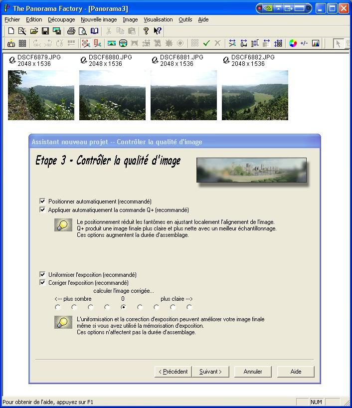Créer un panorama avec Panorama Factory Etape310