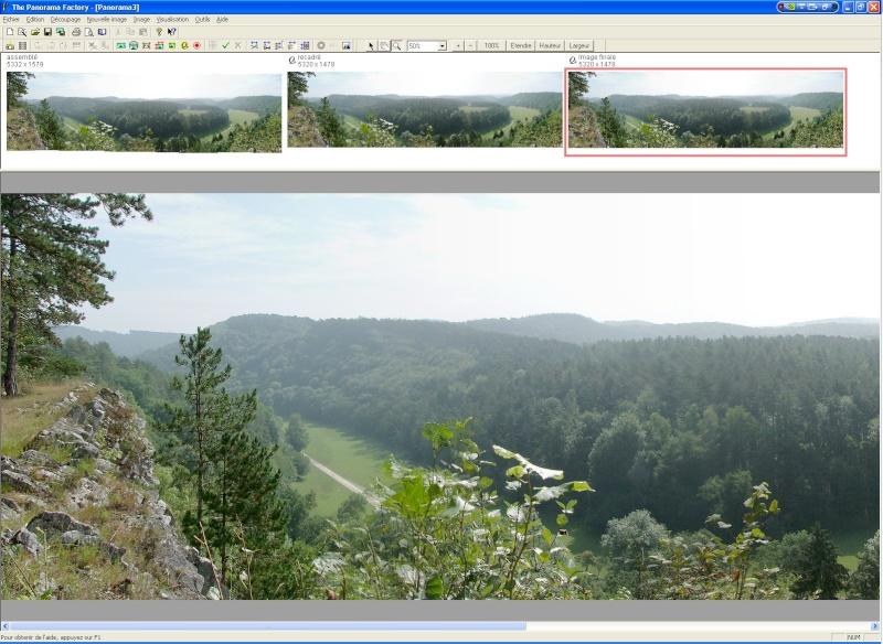 Créer un panorama avec Panorama Factory Etape710