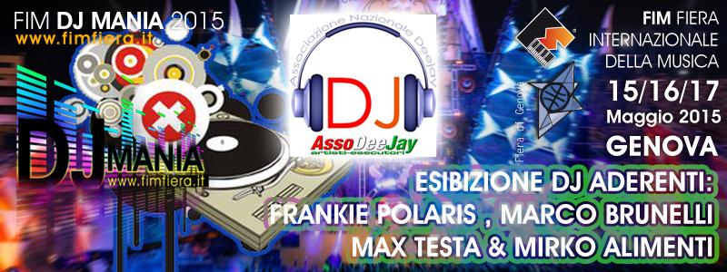 Domenica 17 Maggio dalle 12,00 alle 16,00 in FIM-FIERA di Genova, si esibiscono i DJ di AssoDeeJay Dj_ass10