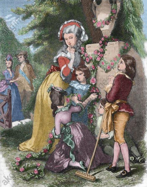 Portraits de Marie Antoinette avec ses enfants 11033610