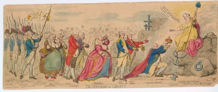 Les rois et reines caricaturés, les caricatures à l'époque de la Révolution française et de la Restauration - Page 2 Carica10