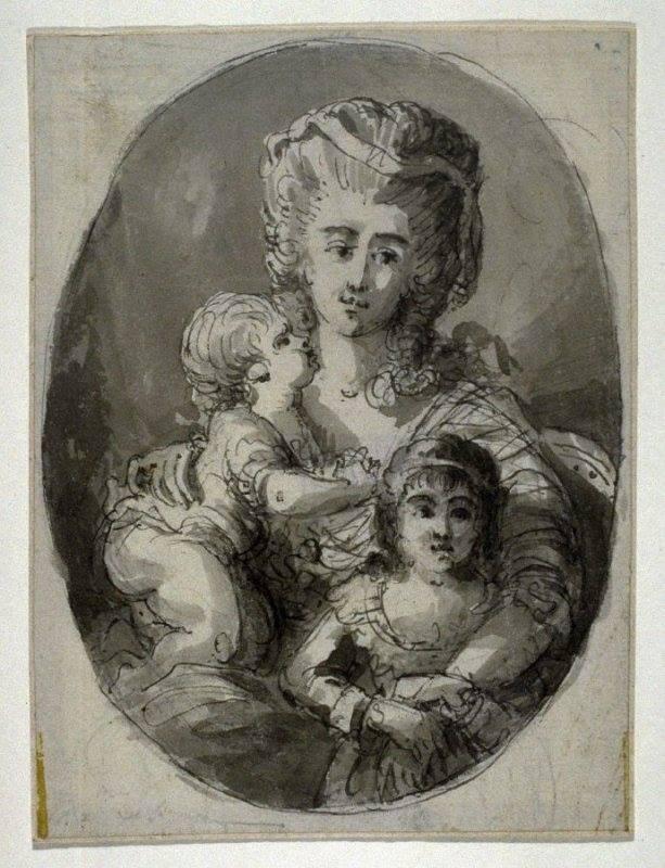 Portraits de Marie Antoinette avec ses enfants Ma_17910