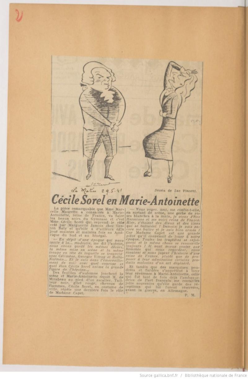 Madame Capet ou Cécile Sorel dans le métro en 1944 Ma_sor10