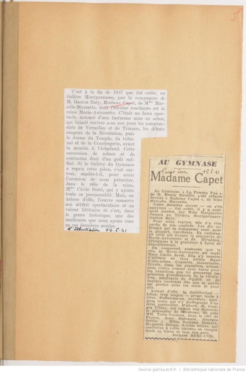Madame Capet ou Cécile Sorel dans le métro en 1944 Ma_sor13