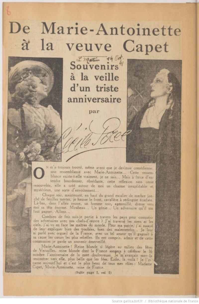 Madame Capet ou Cécile Sorel dans le métro en 1944 Ma_sor15
