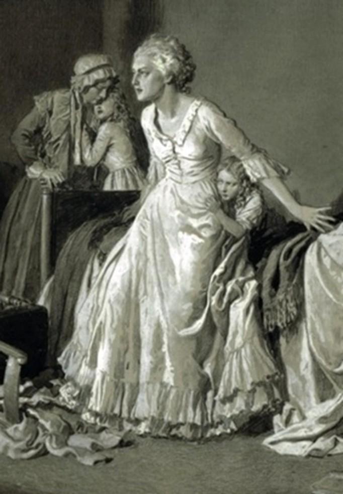 Portraits de Marie-Antoinette dans les prisons du Temple et de la Conciergerie Zzr1210