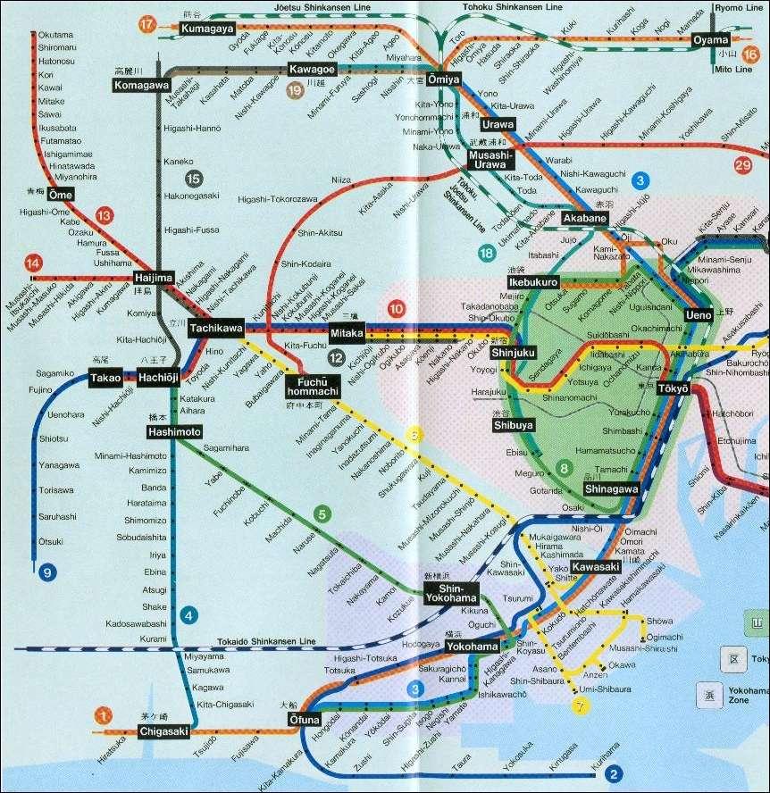 TOKYO : TRAIN - METRO - CARTES Submap11