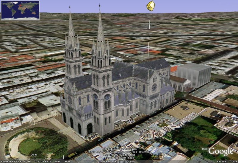 Bâtiments 3D avec textures - PARIS et Région parisienne [Sketchup] - Page 4 Eglise10