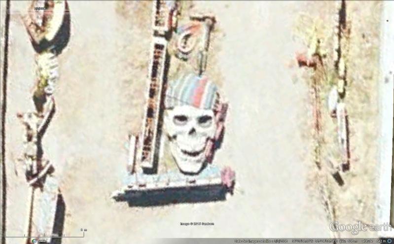 Tête de mort à Las Vegas, Nevada - Etats-Unis Sans_304